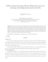 Kiểm chứng tính đúng đắn hệ thống tính toán của chương trình bằng kiểm duyệt mô hình