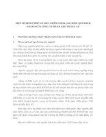 MỘT SỐ BIỆN PHÁP CƠ BẢN NHẰM NÂNG CAO HIỆU QUẢ KINH DOANH CỦA CÔNG TY BÁNH KẸO TRÀNG AN