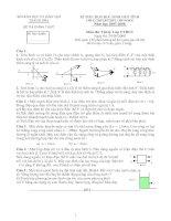 Đề thi và đáp án mon vật lý lơp 9 cấp Tỉnh