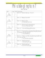 môn thể dục tuần 7-8-9-10