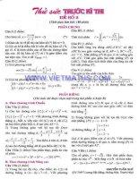 ĐỀ THI THỬ ĐẠI HỌC LẦN 2 NĂM 2012 TRƯỜNG THPT LÊ LỢI Thành phố Đông Hà QUẢNG TRỊ MÔN TOÁN - KHỐI A, B