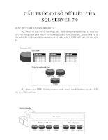 Cấu trúc cơ sở dữ liệu của SQL server 7.0