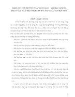 SKKN: ĐỔI MỚI PHƯƠNG PHÁP GIẢNG DẠY – GIẢI BÀI TẬP HÓA HỌC 10 GÓP PHẦN PHÁT TRIỂN TƯ DUY SÁNG TẠO CHO HỌC SINH