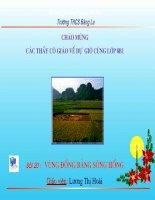 Bài 20: Vùng đồng bằng sông hồng
