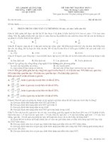 SỞ  GD&ĐT QUẢNG TRỊ TRƯỜNG  THPT CHUYÊN  LÊ QUÝ ĐÔN ĐỀ THI THỬ ĐẠI HỌC ĐỢT 1 Ngày 03 tháng 3 năm 2012 MÔN SINH HỌC