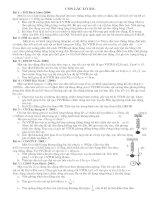 Một số bài tập tự luận hay về dao động