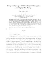 Nâng cao hiệu quả thi hành bản án hình sự tại  thành phố Hải Phòng