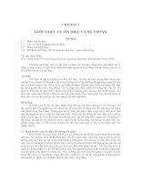 Bài dịch tín hiệu hệ thống trường ĐHBK TPHCM chương 1
