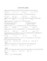 50 Câu trắc nghiệm Toán hình học 10