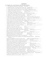 Rewrite the sentences