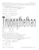 30 Bài toán Hóa 9 hay và khó (Có lời giải)