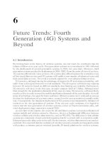 Future Trends- Fourth Generation (4G) Systems and Beyond