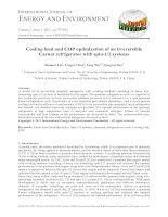 Cooling load and COP optimization of an irreversible Carnot refrigerator with spin-1/2 systems