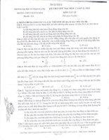 ĐỀ THI THỬ ĐẠI HỌC LẦN 2 NĂM 2012 MÔN VẬT LÍ TRƯỜNG CHUYÊN ĐHSP