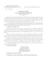 CHUONG TRINH DOI TNTP NAM HOC 2010-2011