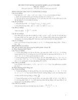 Đề và Gợi ý trả lời môn Toán A,B,D (Cao đẳng 2009)