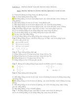 Bài tập trắc nghiệm Hình 10 nâng cao