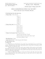 báo cáo công tác thư viện 09-10
