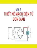 Bài 9: Thiết kế mạch điện