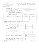 Đề thi và Đáp án cuộc thi Giải toán trên máy tính Casio bậc Trung học