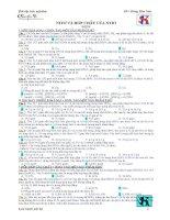 phân loại bài tập trắc nghiệm về N+HNO3 (có kèm theo đáp an)