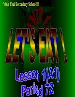 Let'''' eat Lesson 1 Teacher: Luu Hai Phuc