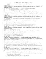 Bài tập bổ trợ Tiếng anh 9