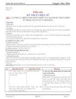GIÁO ÁN CÔNG NGHỆ 12 - HKI (HAY + ĐÃ QUA SỬ DỤNG và SỬA CHỮA)