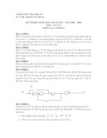 Đề thi HSG Vật lý 9 có đáp án
