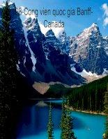 Cong vien quoc gia Banff-Canada.ppt