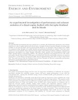 An experimental investigation of performance and exhaust emission of a diesel engine fuelled with Jatropha biodiesel and its blends