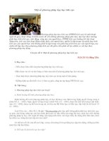 một số phương pháp giảng dạy tích cực
