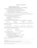 Đề kiểm tra 1 tiết vật lý 9 bài số 1có đáp án