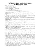 Kế hoạch hoạt động công đoàn THCS Nghinh Xuyên