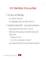 Case Study- A String Class