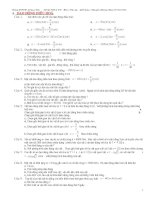 các bài toán cơ bản và nâng cao về dao động điều hoà