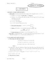 lý thuyết chương số phức ( cơ bản )
