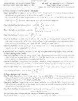ĐỀ THI THỬ ĐẠI HỌC LẦN 1 NĂM 2013 TRƯỜNG THPT NGUYỄN TRUNG THIÊN Môn: TOÁN; Khối A, A1và B