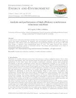 Analysis and performance of high efficiency synchronous reluctance machines