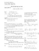 đề thi thử môn toán vào THPT năm học 2009_2010 trường THCS nghĩa lâm