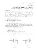 giao trinh linh kien dien tu TRANSISTOR HIỆU ỨNG TRƯỜNG (FIELD EFFECT TRANSISTOR = FET)