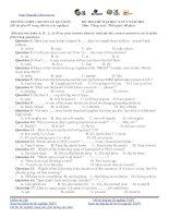 ĐỀ THI THỬ ĐẠI HỌC LẦN 1 NĂM 2013 TRƯỜNG THPT CHUYÊN LÊ QUÝ ĐÔN MÔN TIẾNG ANH, CÓ ĐÁP ÁN