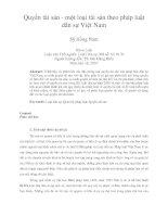 Quyền tài sản - một loại tài sản theo pháp luật dân sự Việt Nam