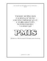 Hướng dẫn cài đặt phần mềm PMIS