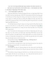CÁC YẾU TỐ ẢNH HƯỞNG ĐẾN HOẠT ĐỘNG TÍN DỤNG TRUNG VÀ DÀI HẠN TẠI NGÂN HÀNG TMCP KIÊN LONG
