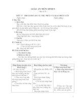 Giáo án Sinh học 9 Kì II