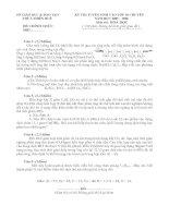 Đề thi & đáp án tuyển sinh vào lớp 10 chuyên hoá 05-06