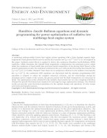 Hamilton–Jacobi–Bellman equations and dynamic programming for power-optimization of radiative law multistage heat engine system