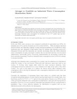 Attempt to Establish an Industrial Water Consumption Distribution Model