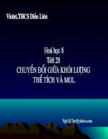 Chuyen doi giua the tich khoi luong vamol